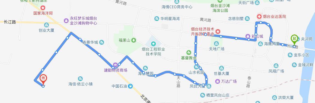 212路:烟台公交开发区公司-----张裕城