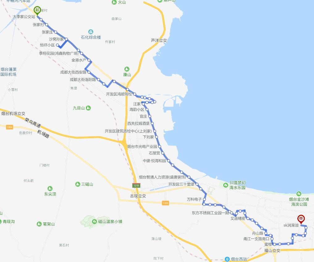 215路:大季家公交站—SK润滑油