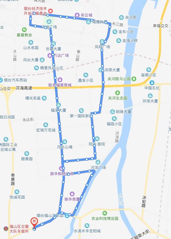 521/522路:福山一中公交场站—福山一中公交场站