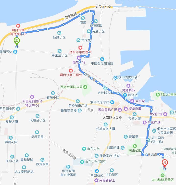 47路 幸福中路公交场站—塔山旅游风景区