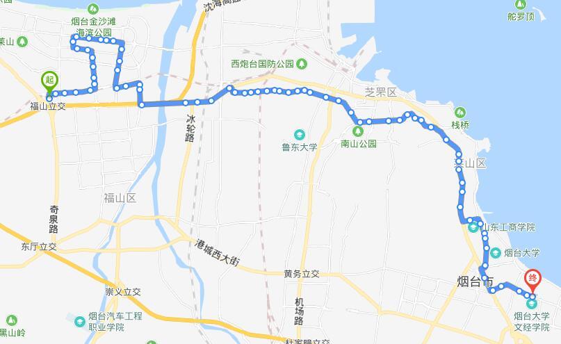23路:汽车西站-烟台大学文经学院
