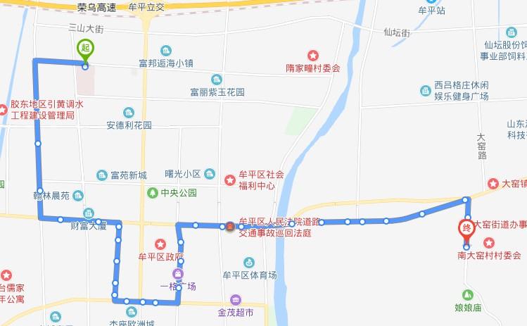 604路:滨医烟台附院北站-南大窑