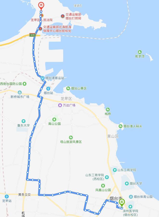 19路:孙家滩公交场站——西海岸