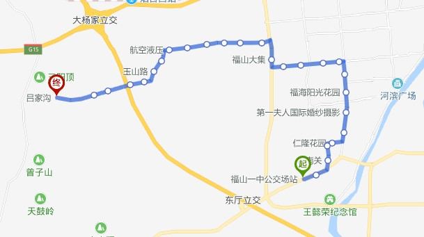 316路:福山一中公交场站—吕家沟