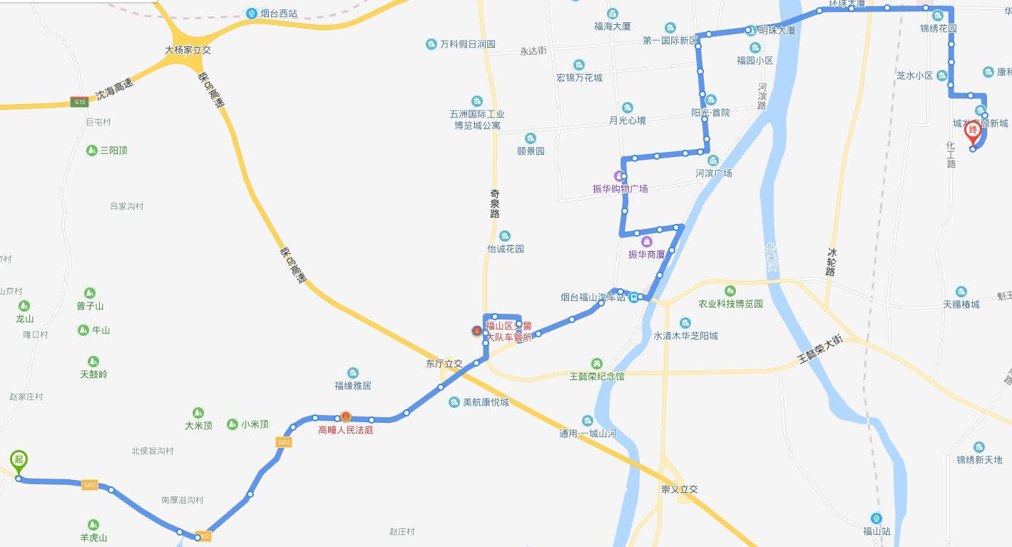303路:高疃公交中枢站—康和新城公交场站